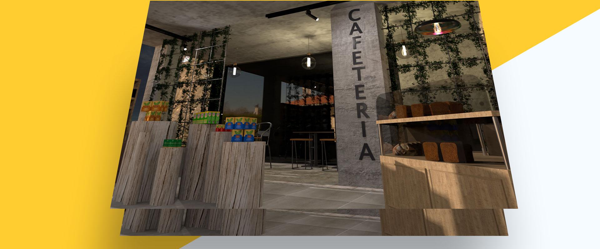 espace thé photorealiste en 3d
