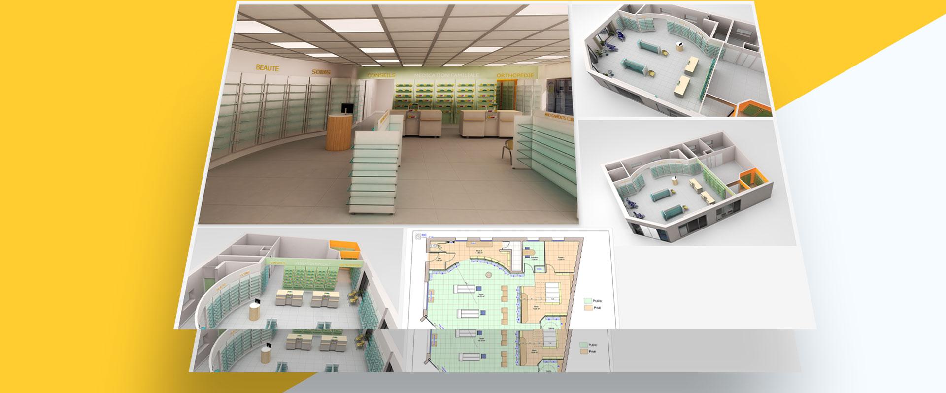achitecture pharmacie