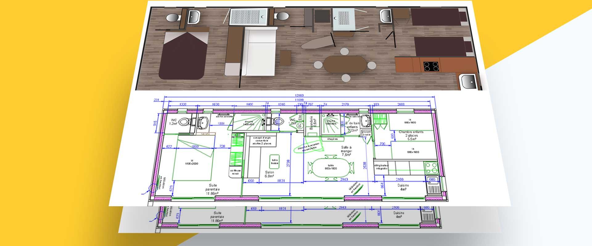 bungalow plan de masse
