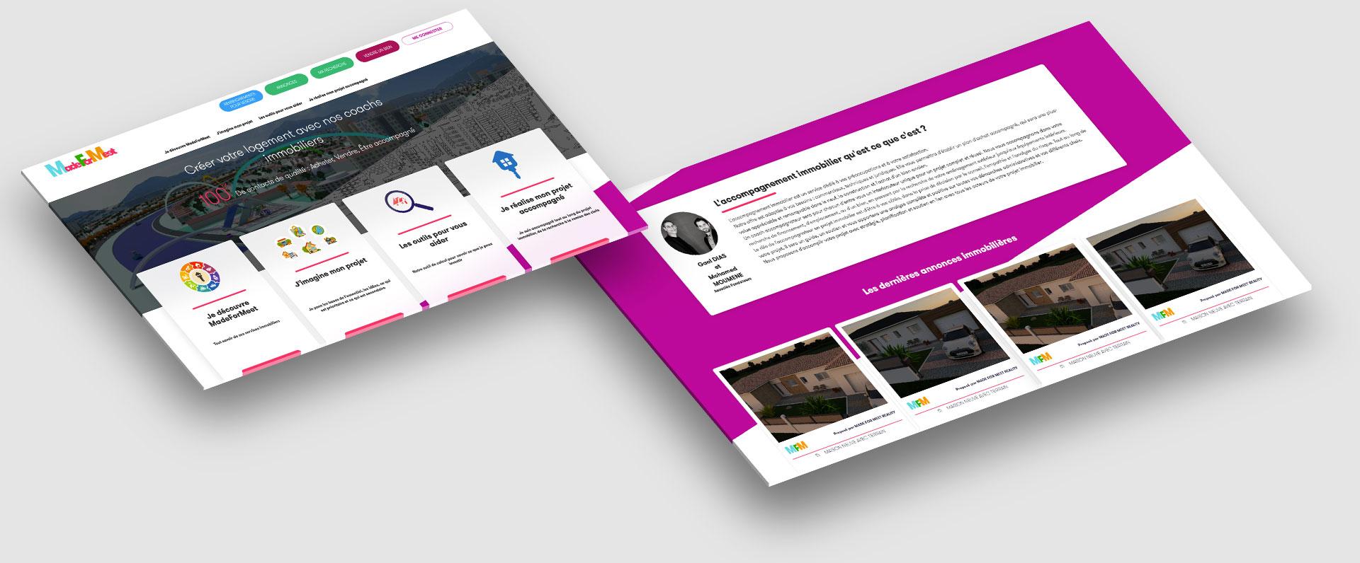 application web pour l'immobilier